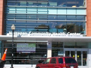 Front entry of the new health center